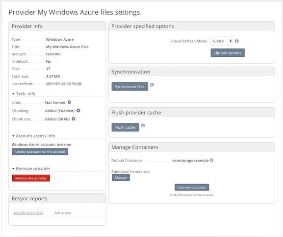 Microsoft Azure Cloud Storage - Storage Made Easy® Documentation